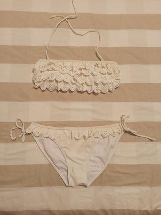 Bikini blanco de la tienda Oysho