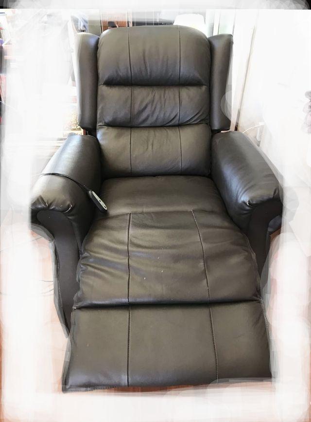 Sofa relax reclinable color marrón oscuro