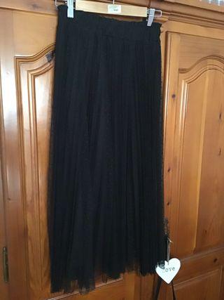 Falda tipo tul negra