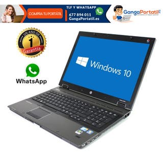 "Portátil Hp EliteBook 8740W, 17""/i5/8Gb Ram/180Gb"