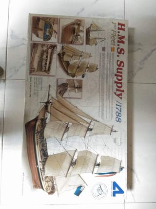 "Maqueta de barco ""H.M.S. SUPPLY 1788"""