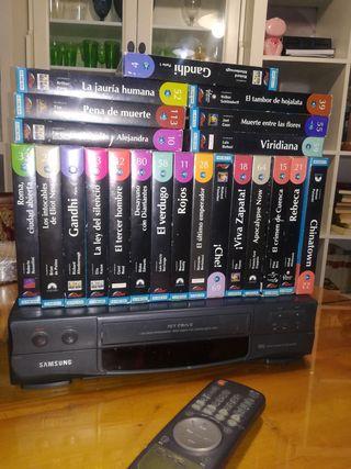 VHS Reproductor + Pack películas.