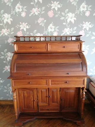 Escritorio madera, bureau colonial