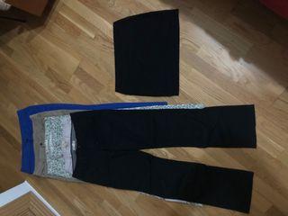 5 Pantalones 1 Falda talla 40