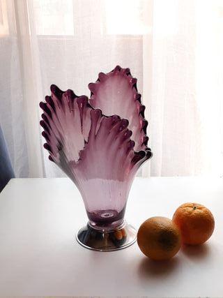 Frutero antiguo de vidrio