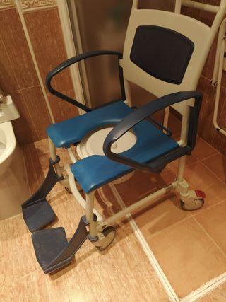 Silla de ruedas para ducha para minusválidos