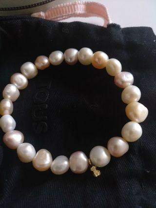 Tous pulsera perlas