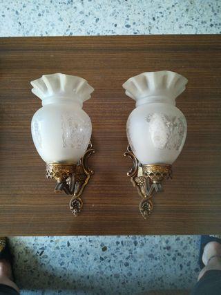pack de 2 lamparas antiguas