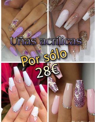 promoción uñas acrílicas