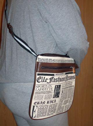 Bolso estampado periódico antiguo - ¡NUEVO!