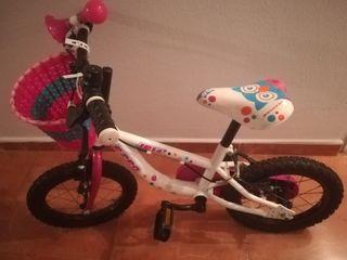 Bicicleta de niña de 14 pulgadas