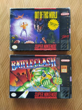 Juegos SNES USA Battleclash - Out of this World