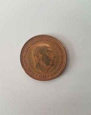 MONEDA ESPAÑOLA 1 PESETA 1966 - FRANCISCO FRANCO