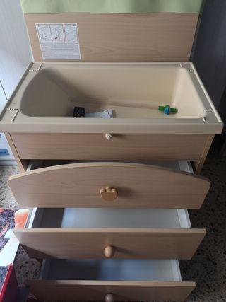 bañera cambiador mueble prenatal.