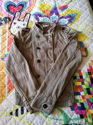 chaqueta tejana marrón pimkie talla M