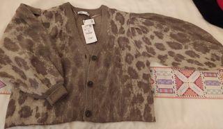 chaqueta Cardigan Zara 2020 estampado leopardo