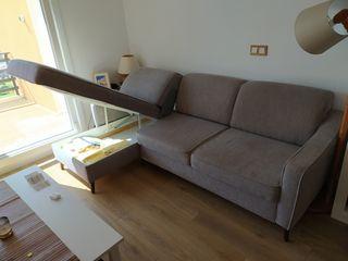 Sofá de 2 plazas + chaise lounge