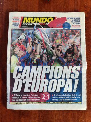 Mundo Deportivo Champions Barça 2006