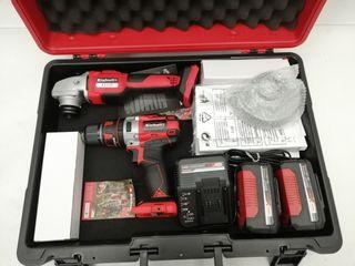 Pack amoladora+taladro percutor a batería Einhell