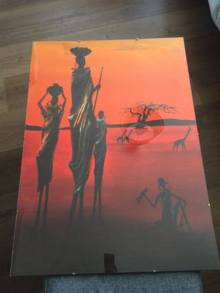 Láminas 70x50 motivos africanos