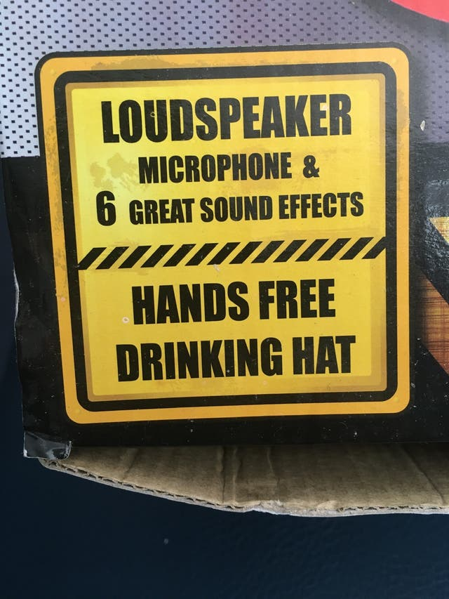 Microphone drinking hat