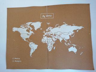 Cuadro de mapa de el mundo