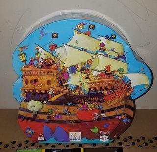 Puzzle El Barco de Barbarrosa Djeco NUEVO