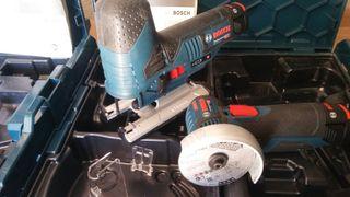 caladora y amoladora Bosch 12v