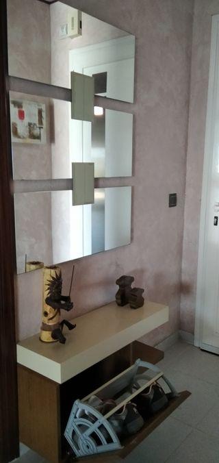 recibidor y espejo