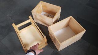 Juego de cajas de madera