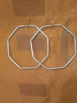Aros en plata de ley de diseño octogonales