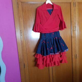 falda vaquera de flamenca negociable