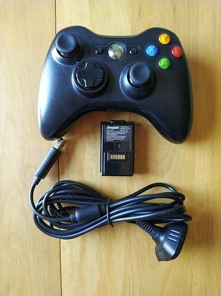 XBOX 360 (Mando Original+Batería+Cable De Carga)