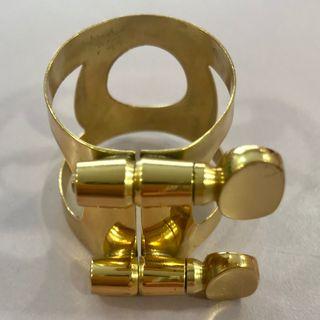 Abrazadera dorada para Saxo Tenor NUEVA Stock