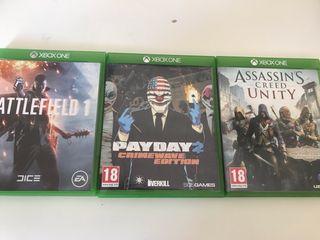 3 juegos XBOX ONE