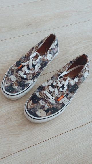 vans gatos mujer zapatillas