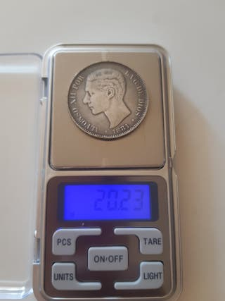 monedas España 5 pesetas falso de esos tiempos