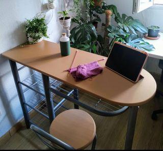 Mesa alta auxiliar cocina