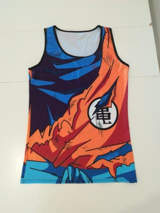 Camiseta de tirantes L XL Dragon Ball Goku