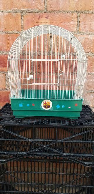 Jaula de hierro para pájaros