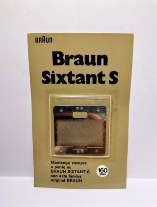 Braun Sixtant S hoja o lámina de recambio (nueva)
