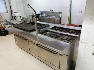 cocina y campana industrial