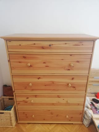 Cómoda madera 5 cajones (modelo ikea: Hemnes)