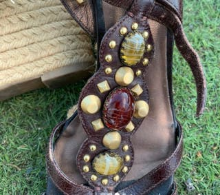 Sandalias piedras Franco Sarto cuña
