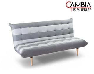 Sofá cama Véneto clic clac 3 plazas con rayas