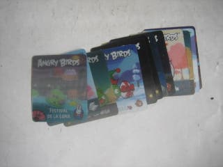 cromos sueltos para el álbum de los Angry Birds 3D