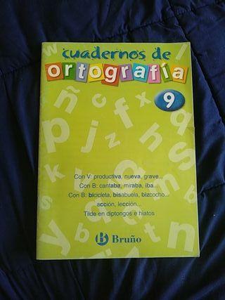 Cuaderno de ortografía 9 Bruño