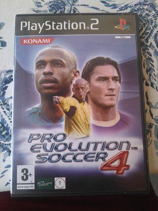 Videojuego fútbol PlayStation 2