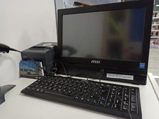 TPV todo en uno con pantalla táctil y accesorios