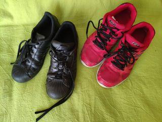 Zapatillas deportivas Adidas y Fila